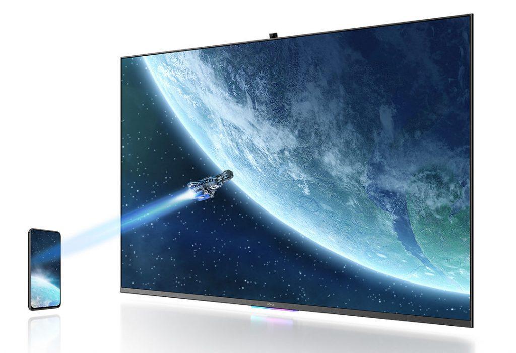 الإعلان HONOR Vision 55 بوصة 4K HDR TV مع HarmonyOS ، كاميرا منبثقة AI ، إطار معدني نحيف 6.9 مم 1