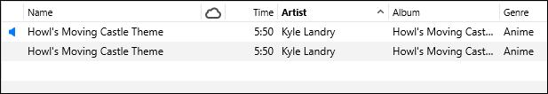 AAC و MP3 نسخة من الأغنية