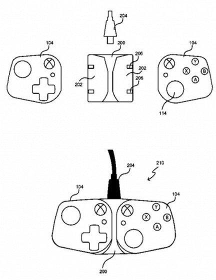 وحدات تحكم براءات اختراع Microsoft لتحويل الهواتف الذكية إلى أجهزة ألعاب محمولة باليد 1