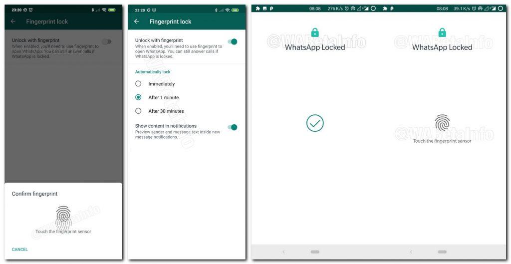 """تمكين ميزة قفل بصمات الأصابع على WhatsApp """"class ="""" wp-image-7222 """"srcset ="""" https://techlog360.com/wp-content/uploads/2019/08/enable-fingerprint-lock-feature-on-WhatsApp-1024x529 .jpg 1024w ، https://techlog360.com/wp-content/uploads/2019/08/enable-fingerprint-lock-feature-on-WhatsApp-300x155.jpg 300w ، https://techlog360.com/wp-content / التنزيلات 2019/08/enable-fingerprint-lock-feature-on-WhatsApp-768x397.jpg 768w ، https://techlog360.com/wp-content/uploads/2019/08/enable-fingerprint-lock-feature- on-WhatsApp.jpg 1549w """"sizes ="""" (أقصى عرض: 1024 بكسل) 100 فولت ، 1024 بكسل"""