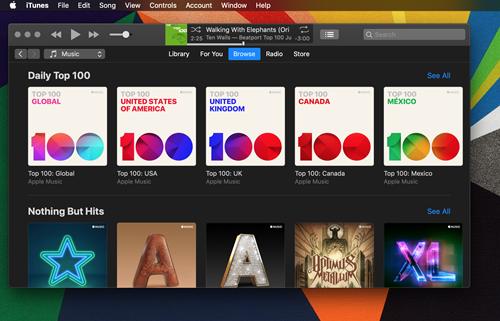 Apple  الموسيقى لها وضع مظلم