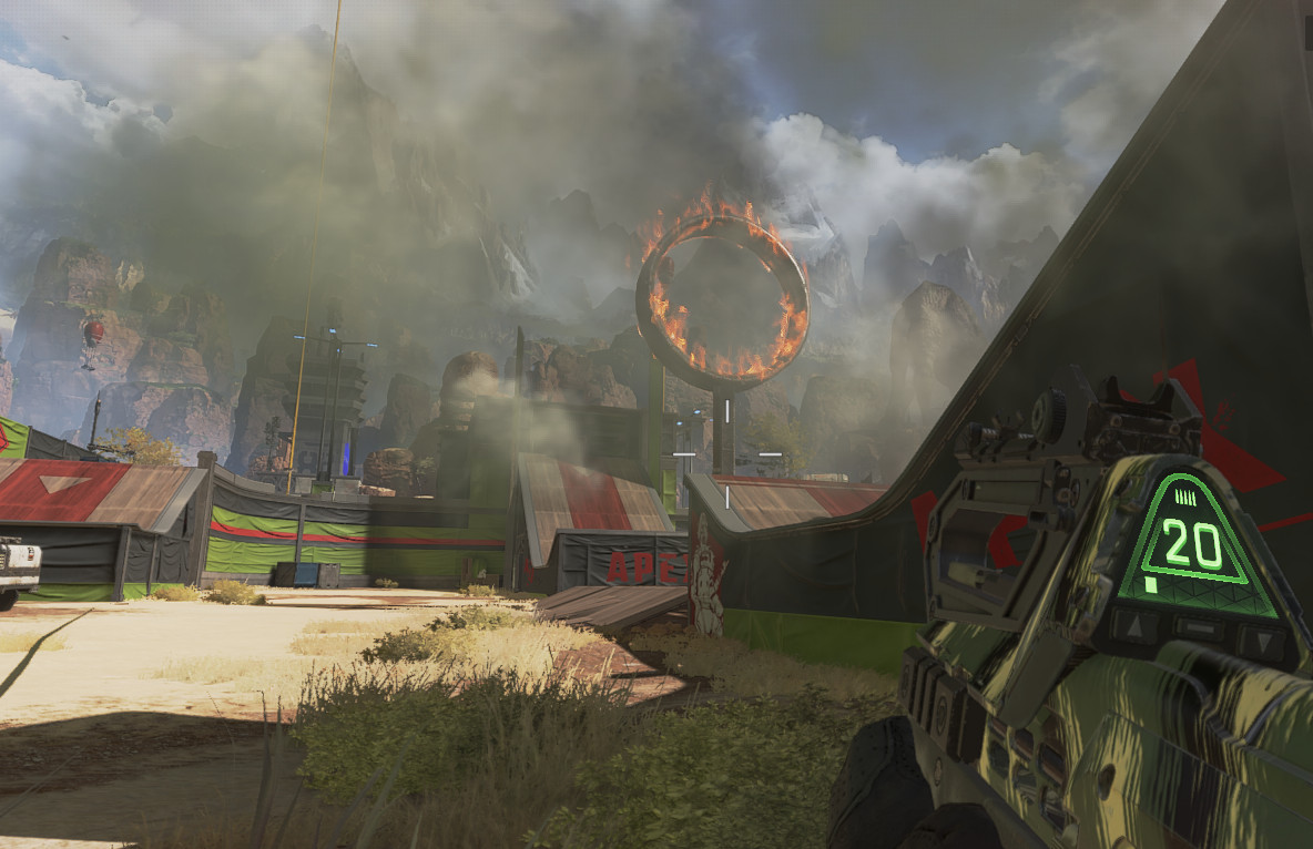 حلقة من النار تقف في وسط منطقة Apex Legends 'Gauntlet