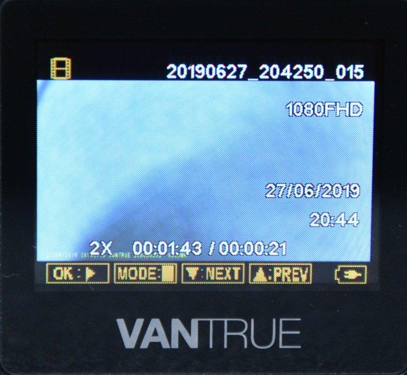 Tiny Vantrue N1 Pro dashcam مع وظائف لائقة جدًا 73