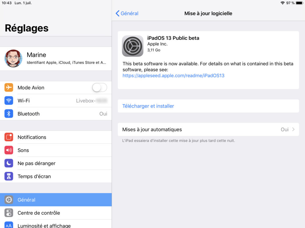 ipad maj beta ipados 1 تعليق télécharger et installer la bêta iOS 13 sur son iPhone