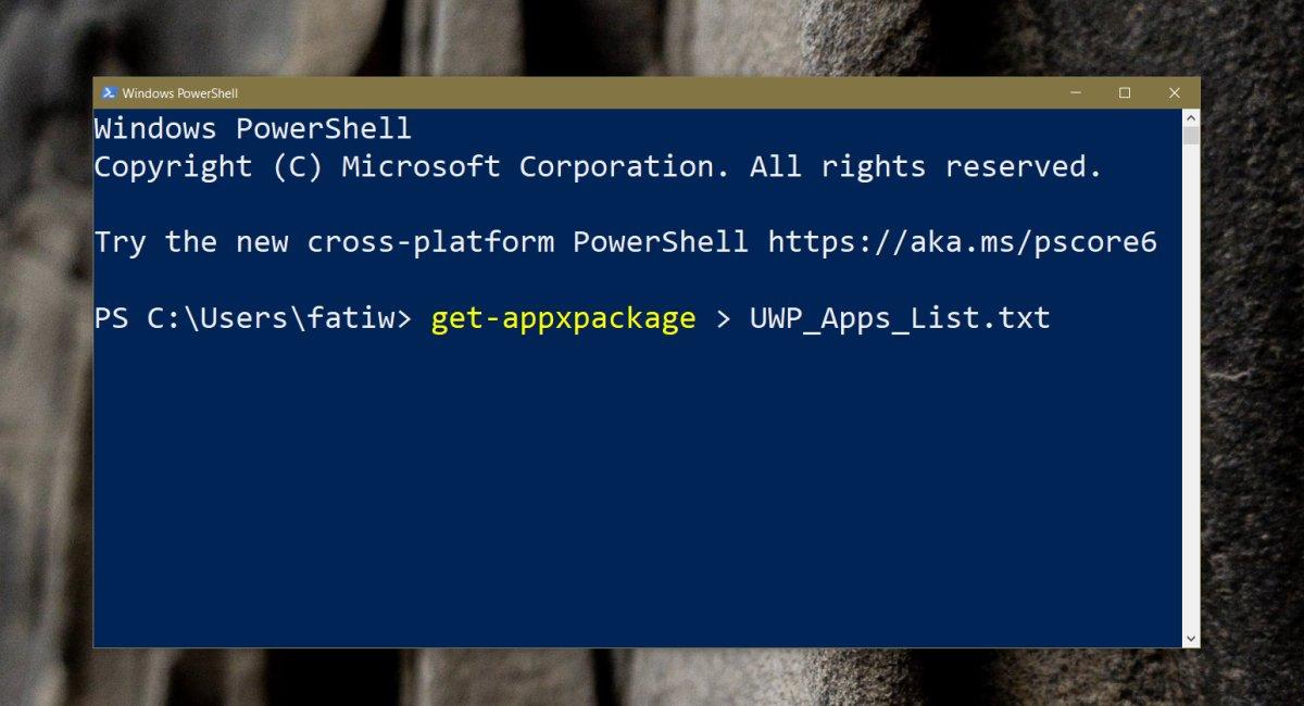 كيفية فتح تطبيقات UWP من سطر الأوامر على Windows 10 1