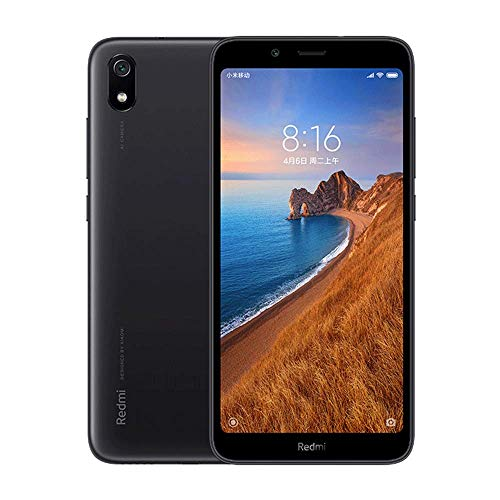 هاتف ذكي Xiaomi Redmi 7A ، ذاكرة رام 2 جيجا بايت بسعة 32 جيجا بايت مزدوجة الشريحة 5.45 بوصة عالية الدقة ، معالج كوالكوم سناب دراغون SDM439 ثماني النواة ، مصدر كبير ، كاميرا خلفية بدقة 13 ميجابكسل ، كاميرا أمامية بدقة 5 ميجابكسل (أسود)