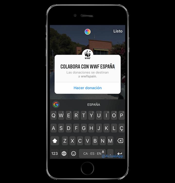 كيف تصنع قصة Instagram مع زر للتبرع للمنظمات غير الحكومية 4