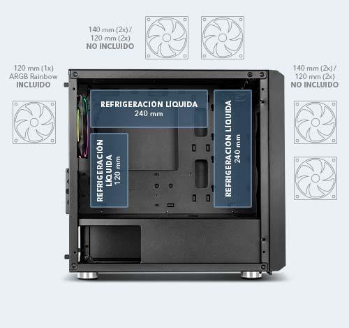 Nox Hummer Fusion S ، نصف مدمج جديد ، متعدد الاستخدامات وأنيق 5