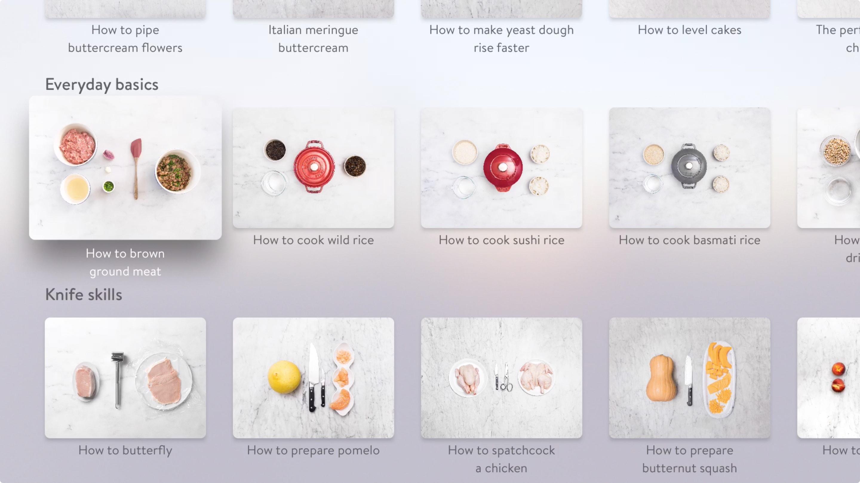 قصص مطبخ التطبيق على Apple تلفزيون
