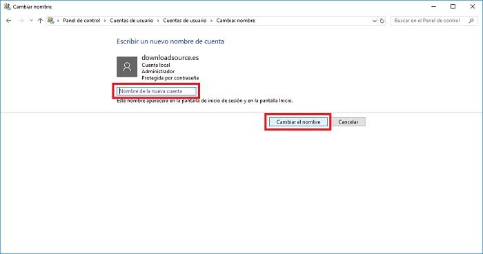 اسم المستخدم الجديد لـ windows 10