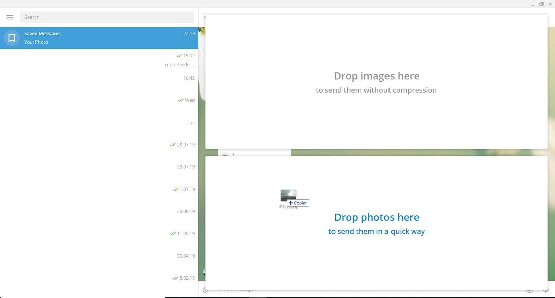 إرسال الصور غير المضغوطة Telegram