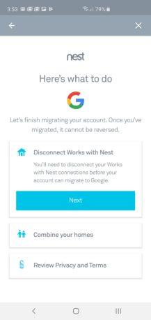 يمكنك الآن ترحيل حساب Nest الخاص بك إلى Google ، ولكن لا توجد طريقة للعودة 2