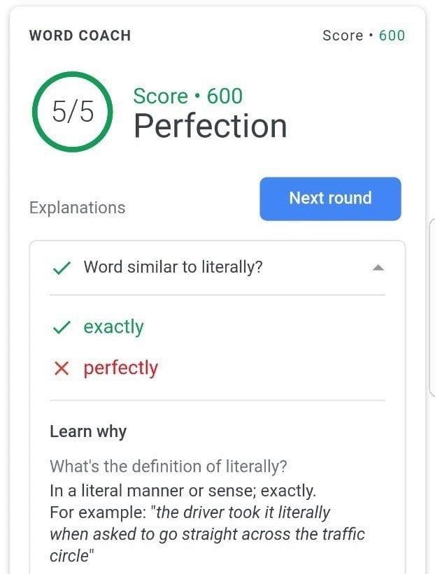 تعلم اللغة الإنجليزية مجانًا مع Google Word Coach ؛ لعبة للجميع 1