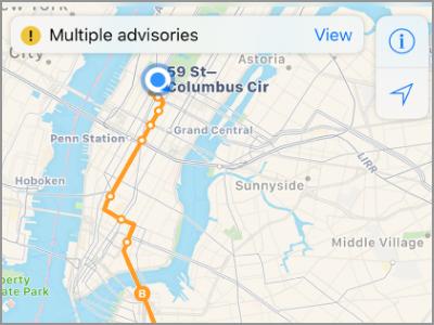 كيفية استخدام بدوره عن طريق بدوره الاتجاه على iPhone باستخدام الخرائط 1