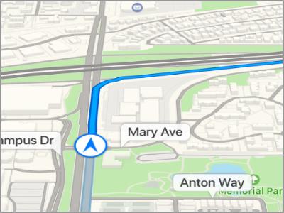 كيفية استخدام بدوره عن طريق بدوره الاتجاه على iPhone باستخدام الخرائط 2