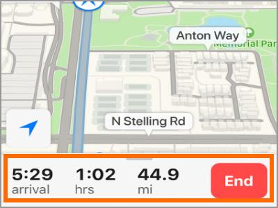 كيفية استخدام بدوره عن طريق بدوره الاتجاه على iPhone باستخدام الخرائط 4