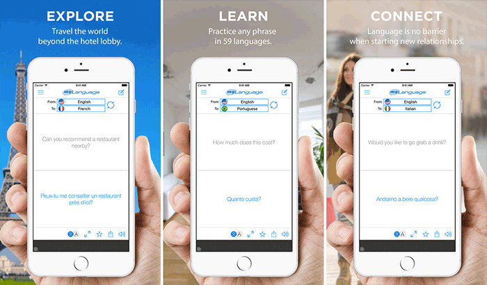 myLanguage Translation iPhone App لقطة الشاشة