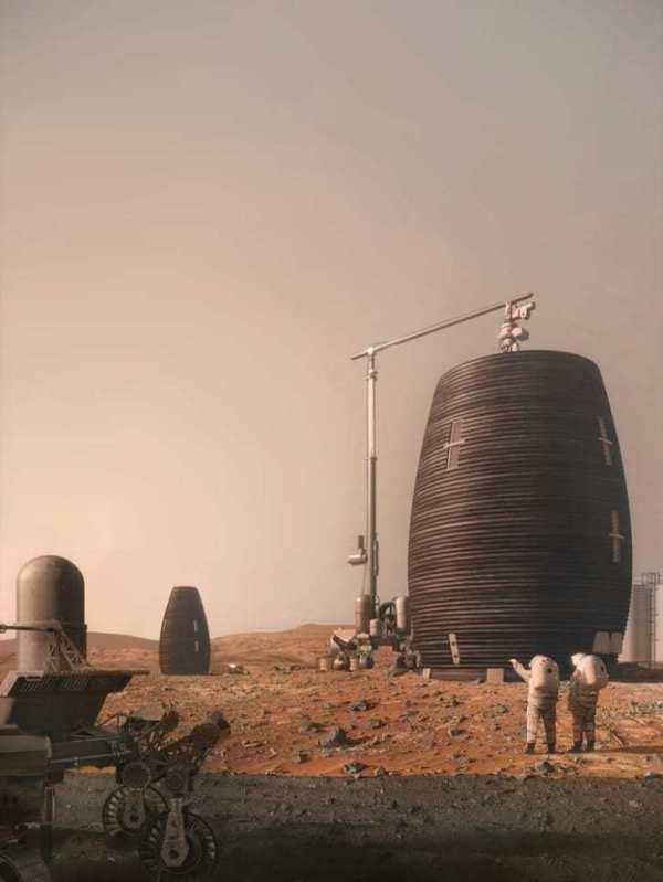 08/19/19 المريخ ، ناسا ، منازل ، 3D