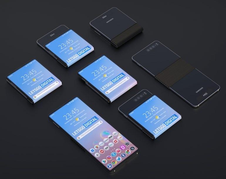 سامسونج براءات اختراع تصميم جديد للجيل الثاني من Galaxy Fold 2