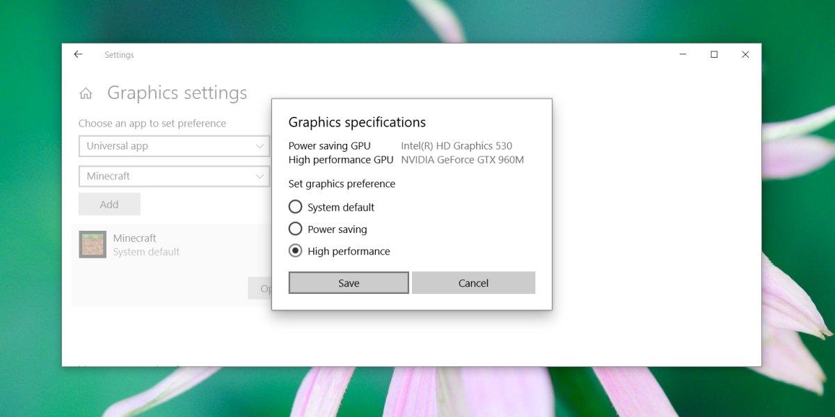 كيفية فرض تطبيقات UWP لاستخدام GPU على Windows 10 2