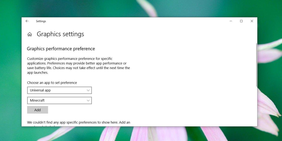 كيفية فرض تطبيقات UWP لاستخدام GPU على Windows 10 1