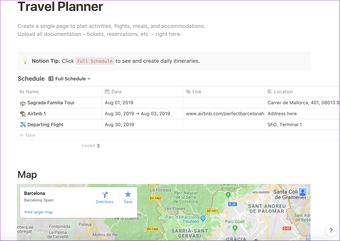 مخطط السفر