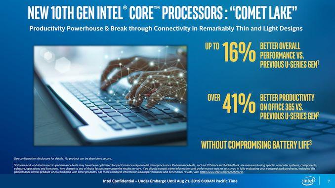 Intel تطلق Comet Lake-U و Comet Lake-Y: ما يصل إلى 6 نوى لأجهزة الكمبيوتر المحمولة رقيقة وخفيفة 7