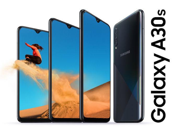 سامسونج Galaxy أعلن A50s و A30s مع الكاميرات الثلاثية والماسحات الضوئية في عرض بصمات الأصابع 2