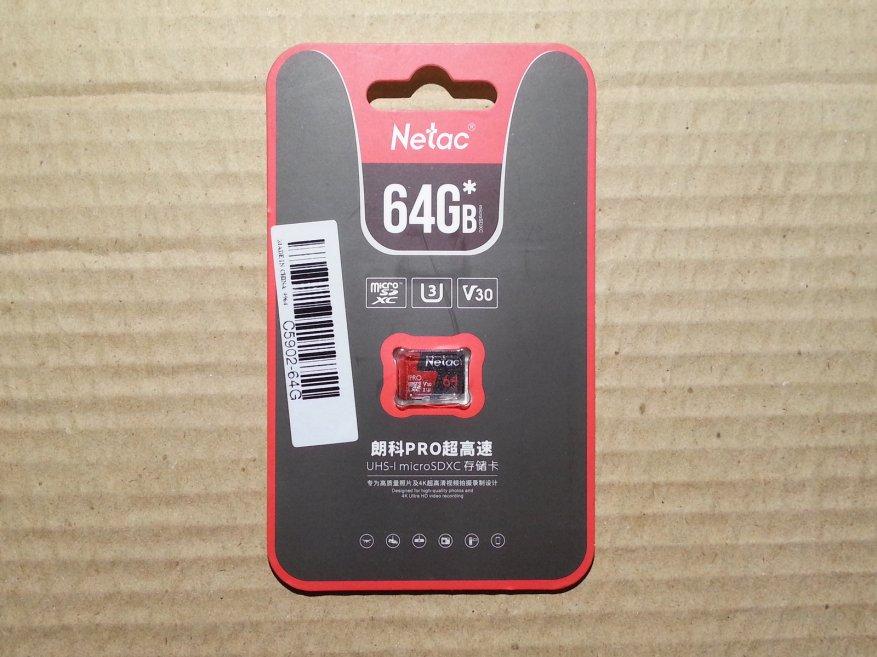 بطاقة ذاكرة Netac P500 Pro سعة 64 جيجابايت سريعة وغير مكلفة إلى حد ما (U3 / V30) 1