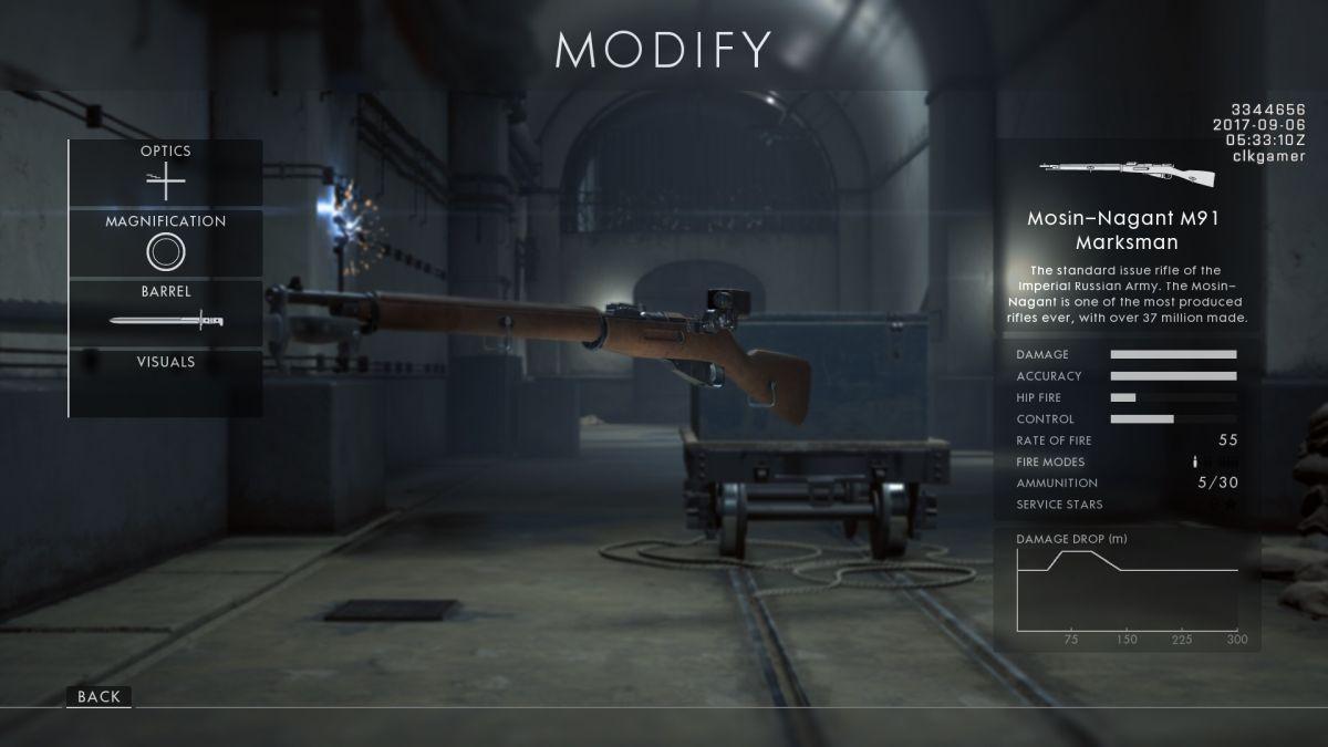 كيفية فتح كل بندقية جديدة في ساحة المعركة 1: باسم القيصر 8