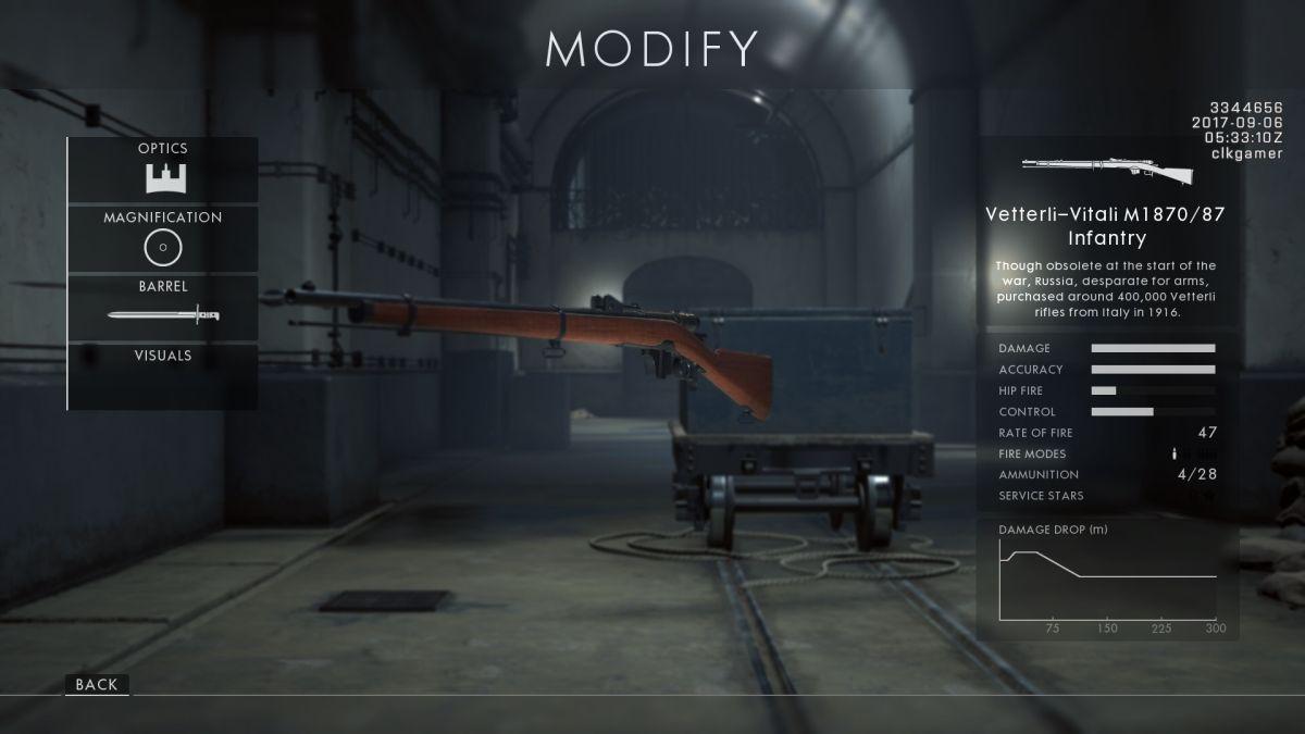 كيفية فتح كل بندقية جديدة في ساحة المعركة 1: باسم القيصر 9