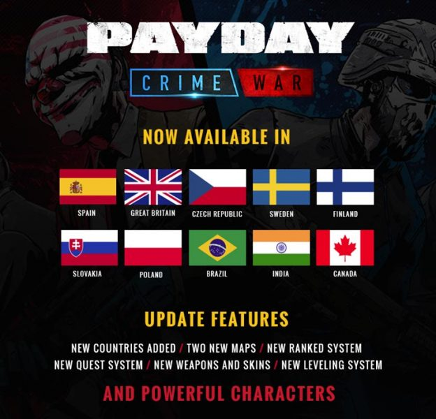يوم الدفع: حرب الجريمة متاحة رسميا في مختلف البلدان 1