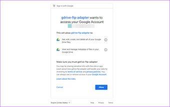 كيفية استخدام Google Drive كخادم Ftp أو محرك أقراص الشبكة مجانًا 2
