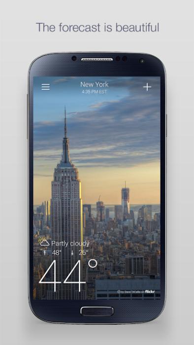 أفضل تطبيقات الطقس للتثبيت على Android 3