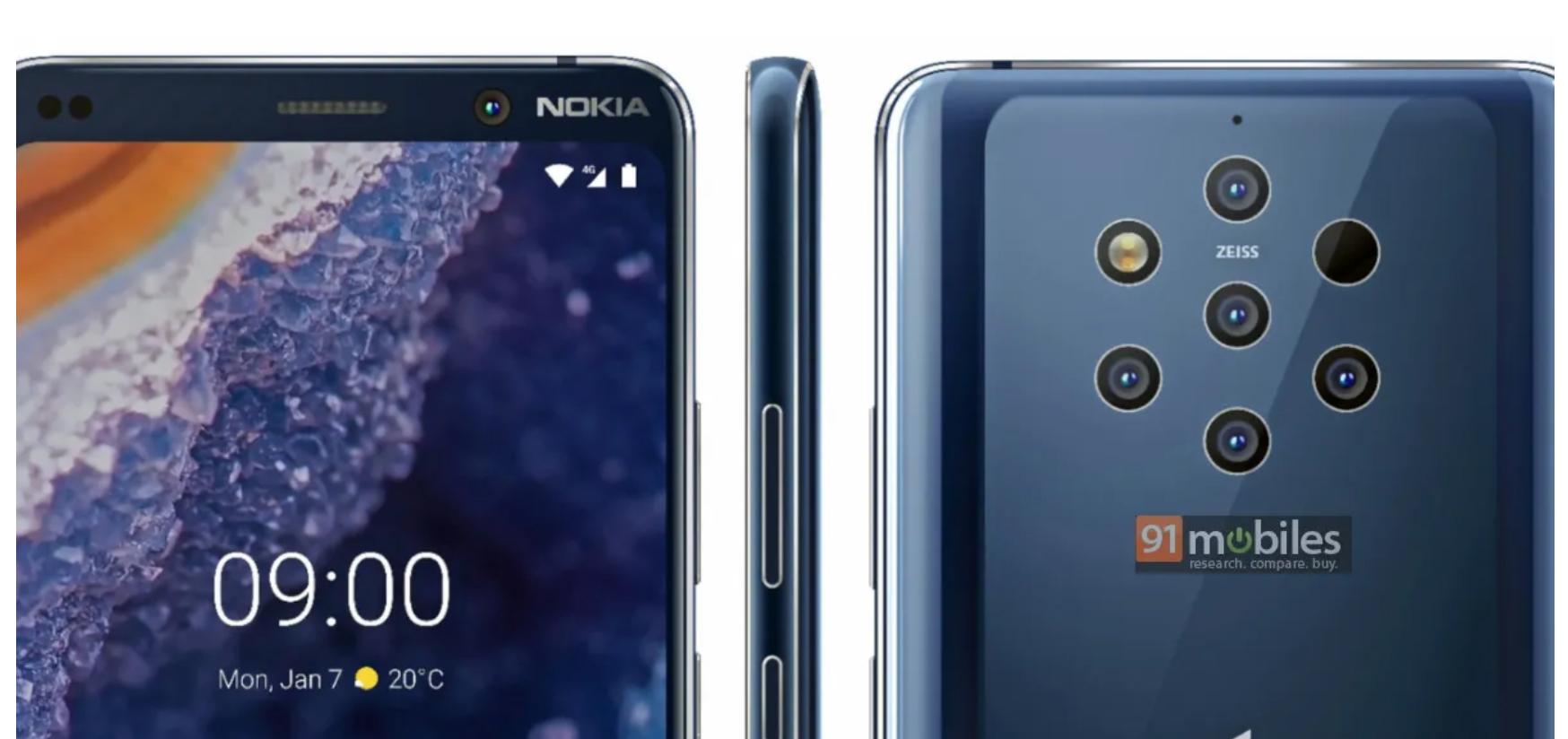 يحتوي Nokia 9 PureView على قارئ لبصمات الأصابع أسفل الشاشة 3