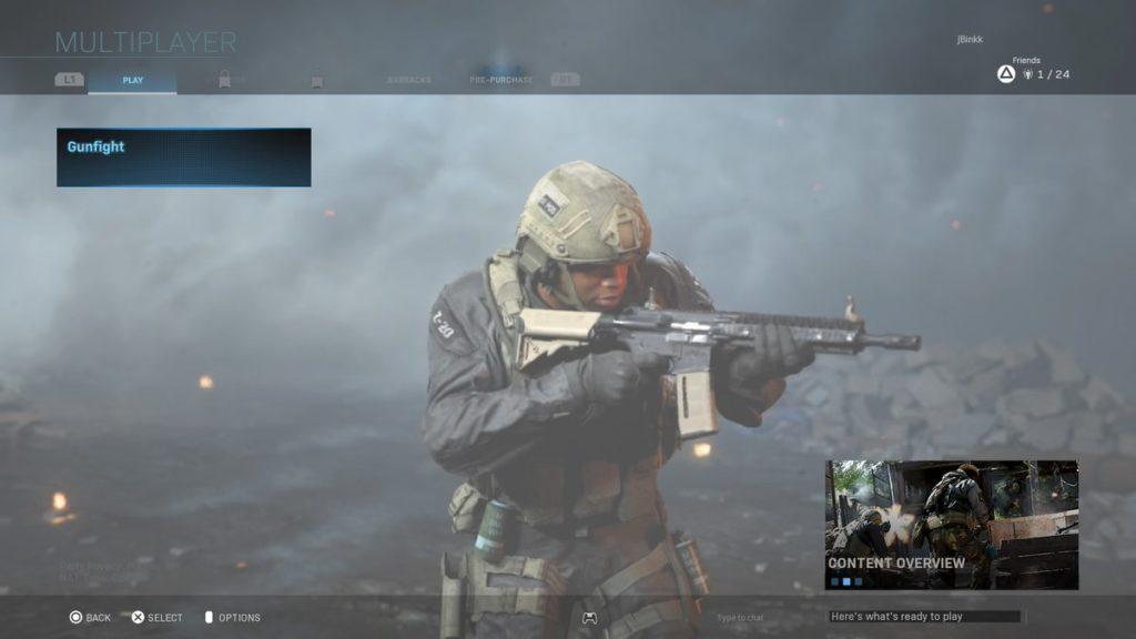 لعبة Call of Duty: Modern Warfare 2-vs-2 Gunfight Alpha الآن على جهاز PS4 - تطبيق Gratuite 1