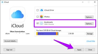 استيراد إشارات Chrome إلى Safari 3