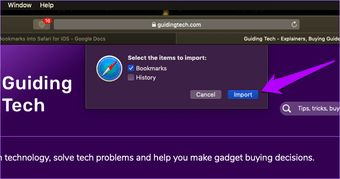 استيراد إشارات Chrome إلى Safari 7