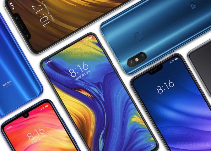 الهواتف Xiaomi التي تظهر على الشاشة