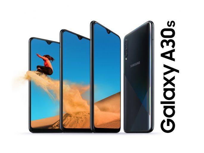 سامسونج Galaxy A30s عبارة عن هاتف محمول مزود بكاميرا ثلاثية و 4000 مللي أمبير في الساعة وسعة تخزين تصل إلى 128 جيجابايت