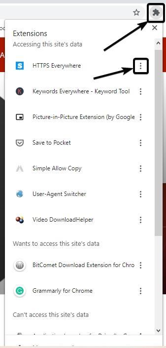 أيقونة امتدادات Chrome 4