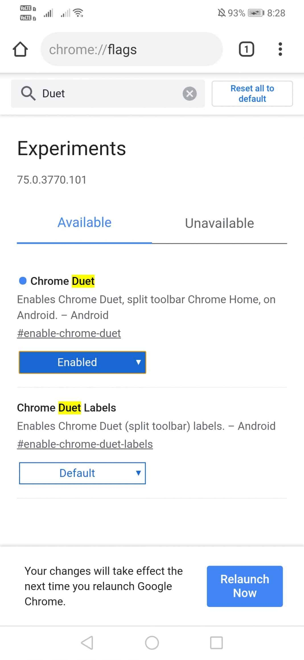 "انقل شريط عنوان Chrome إلى أسفل شاشتك ""width ="" 277 ""height ="" 600 ""srcset ="" https://techviral.net/wp-content/uploads/2019/08/Chrome-address-bar-3. jpg 1068w ، https://techviral.net/wp-content/uploads/2019/08/Chrome-address-bar-3-138x300.jpg 138w ، https://techviral.net/wp-content/uploads/2019/ 08 / Chrome-address-bar-3-768x1664.jpg 768w ، https://techviral.net/wp-content/uploads/2019/08/Chrome-address-bar-3-473x1024.jpg 473w ، https: // techviral.net/wp-content/uploads/2019/08/Chrome-address-bar-3-696x1508.jpg 696w ، https://techviral.net/wp-content/uploads/2019/08/Chrome-address-bar -3-194x420.jpg 194w ""data-lazy-sizes ="" (الحد الأقصى للعرض: 277 بكسل) 100 فولت ، 277 بكسل"