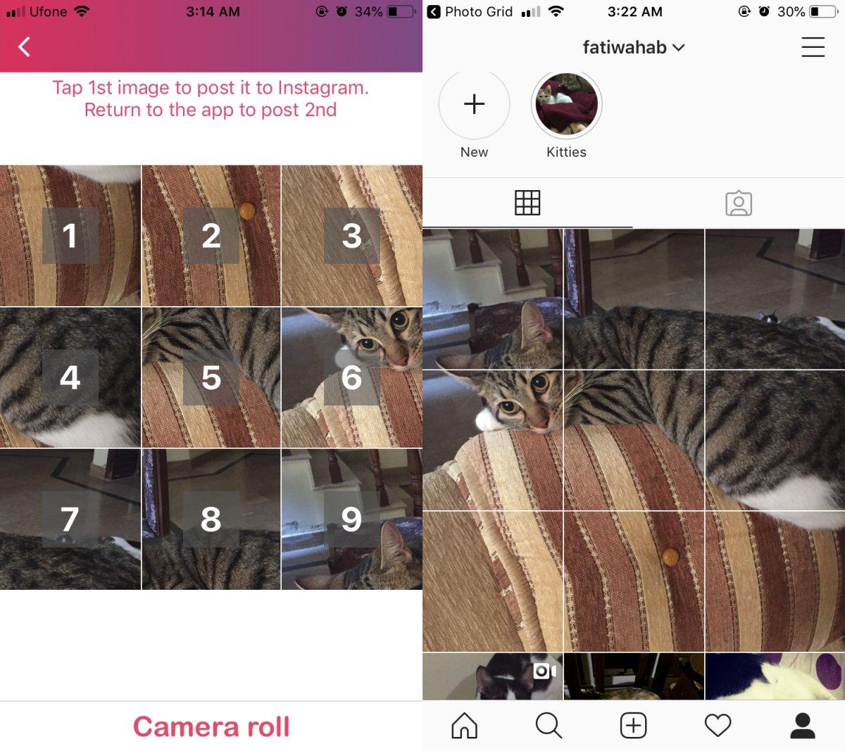 كيفية إنشاء Instagram 3 × 3 شبكة آخر على دائرة الرقابة الداخلية 1