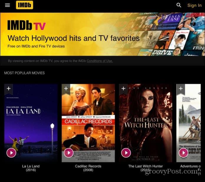 Amazon يضيف خدمة البث المباشر IMDb TV إلى Android و iOS 1