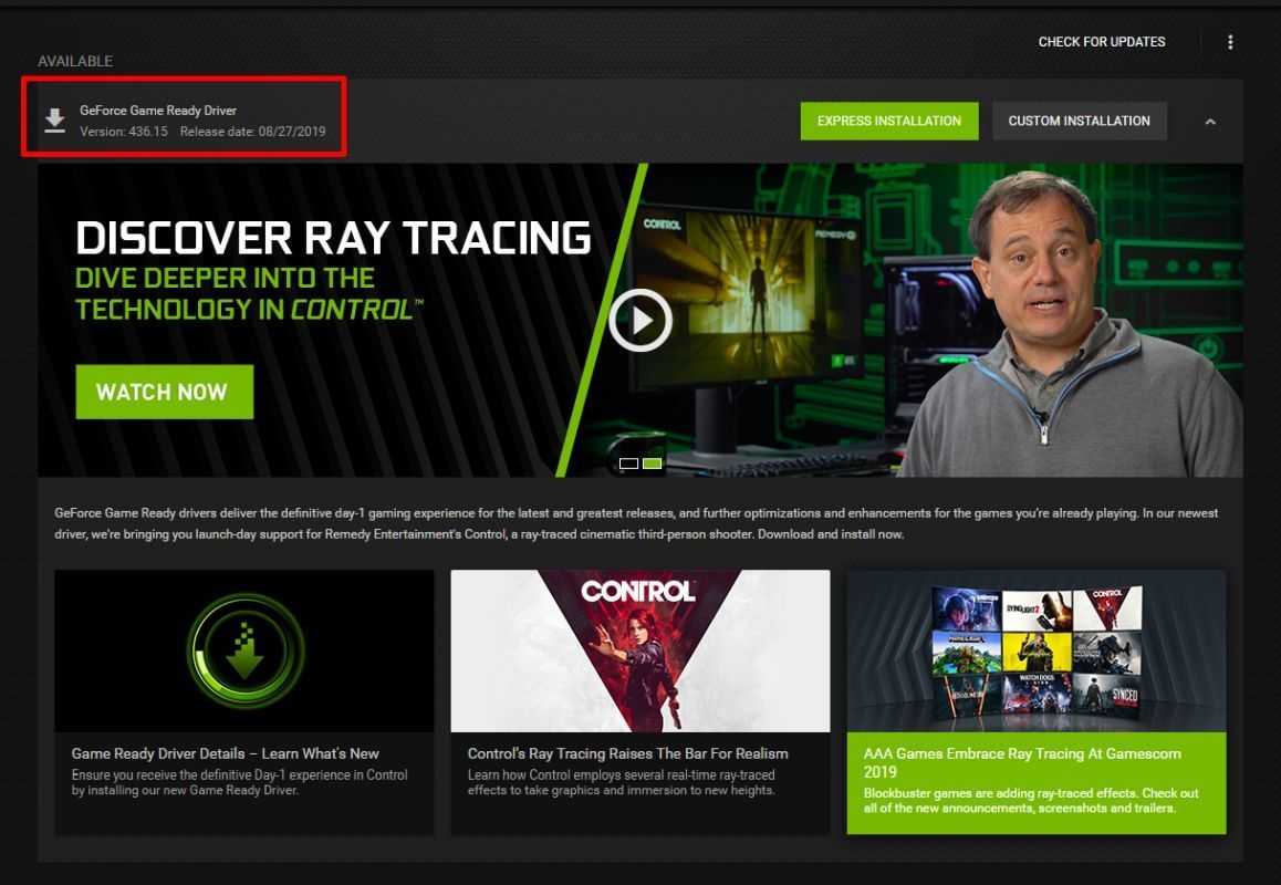 NVIDIA GeForce Drivers 436.02 تم الإبلاغ عن اختناق Framerates مع بعض الألقاب 1