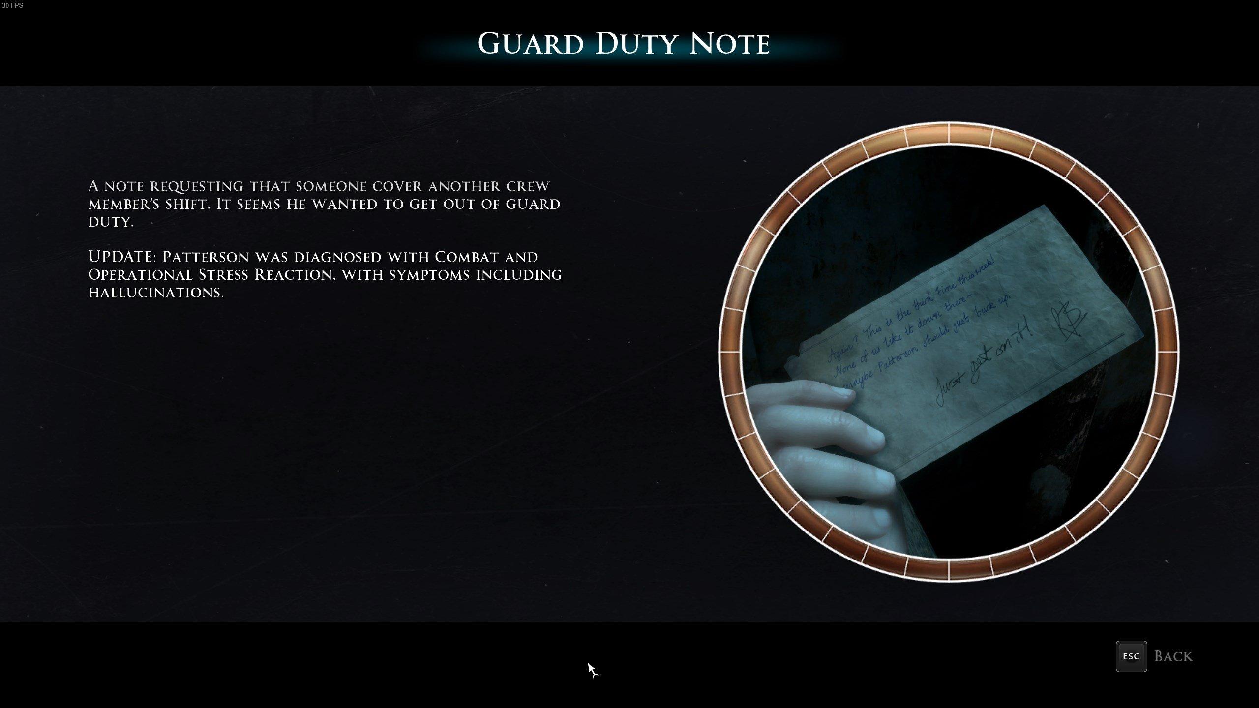 رجل ميدان - واجب الحرس Note
