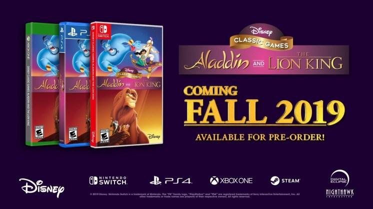 ألعاب ديزني الكلاسيكية: أعلن علاء الدين و الأسد الملك رسميًا عن Steam and Consoles - تفاصيل اللعب ومقطورة 1