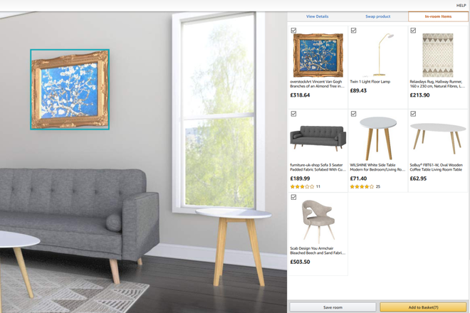 Amazon مقدمات Amazon صالة العرض - غرفة افتراضية حيث يمكنك رؤية عمليات الشراء المنزلية المحتملة 1
