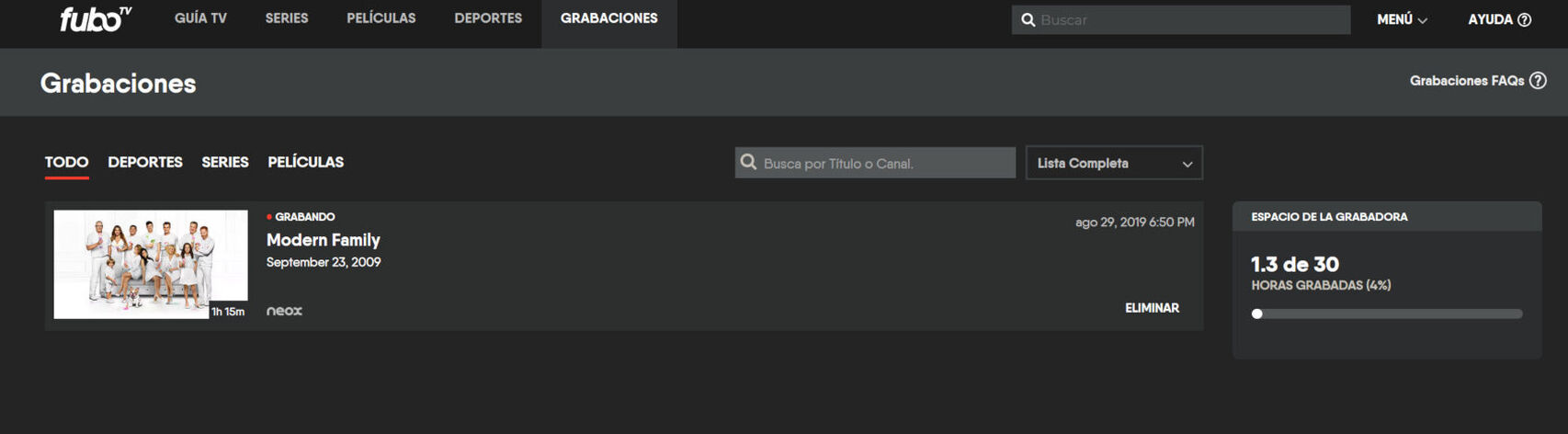 تسجيل FuboTV