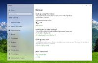 ارجع و استرح Windows 10 الإعدادات